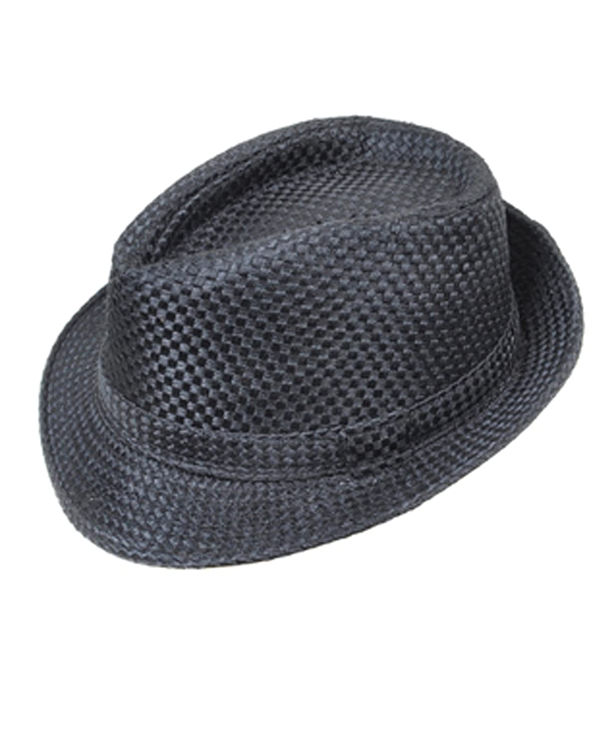 d536357617468 Jet Black Straw Fedora Hat