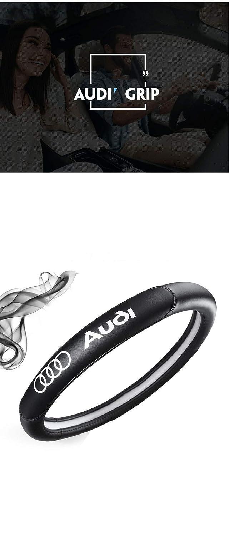 Couvre Volant A4L A6L A3 A1 A5 Q3 Q5 Audi D/édi/é en Cuir Couvre Volant Volant Guidon Ensemble Noir,Black
