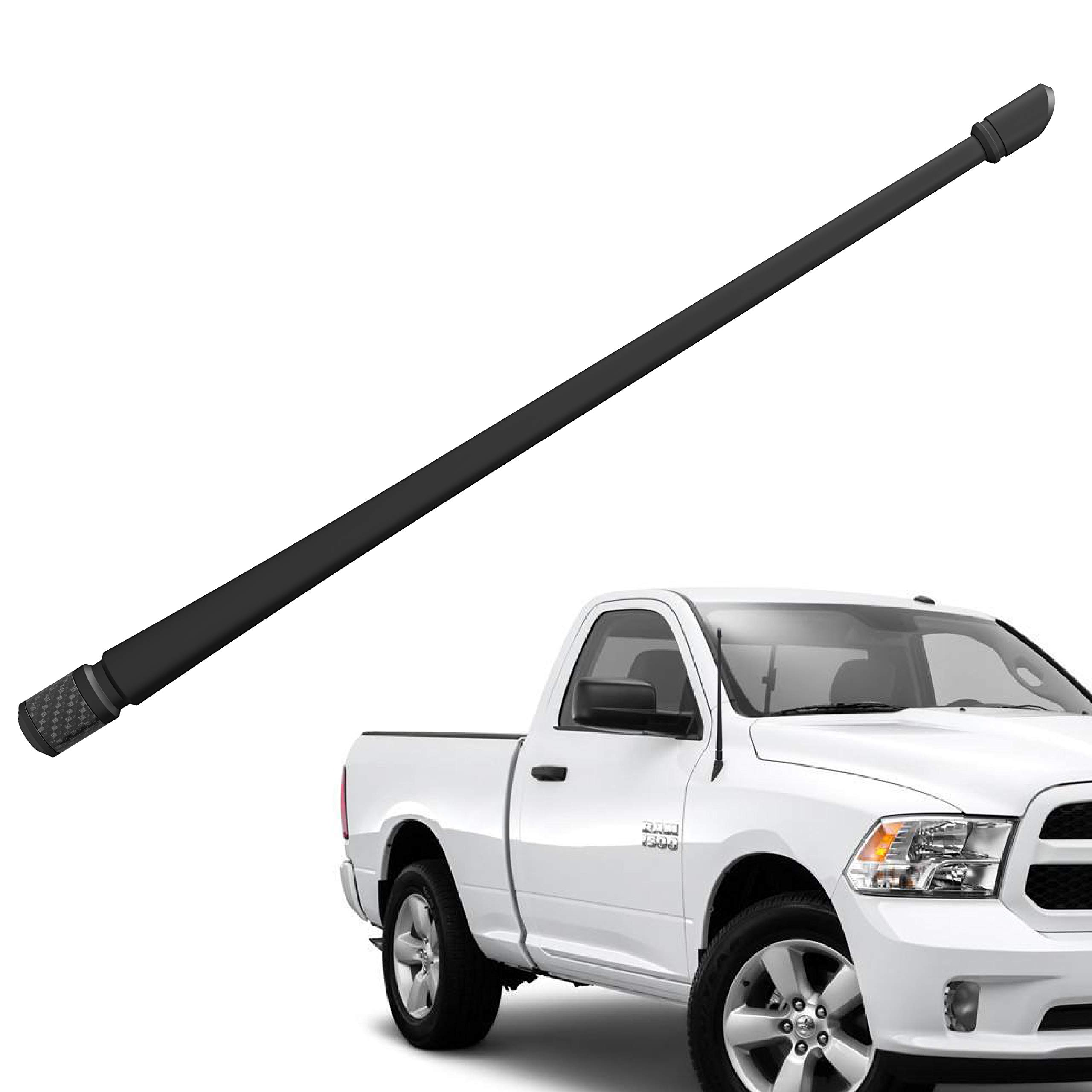 Rydonair Antenna Compatible with 2012-2019 Dodge Ram 1500 | 13 inches Flexible Rubber Antenna Replacement | Designed for Optimized FM/AM Reception