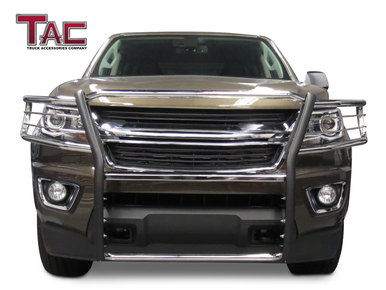"""// GMC Canyon Pickup Truck 3/"""" Stainless Steel Front Bumper Guard Grille Guard Brush Push Guard Off Road Exterior Accessories TAC Bull Bar Fit 2015-2019 Chevy Colorado Excluded ZR2 Model"""