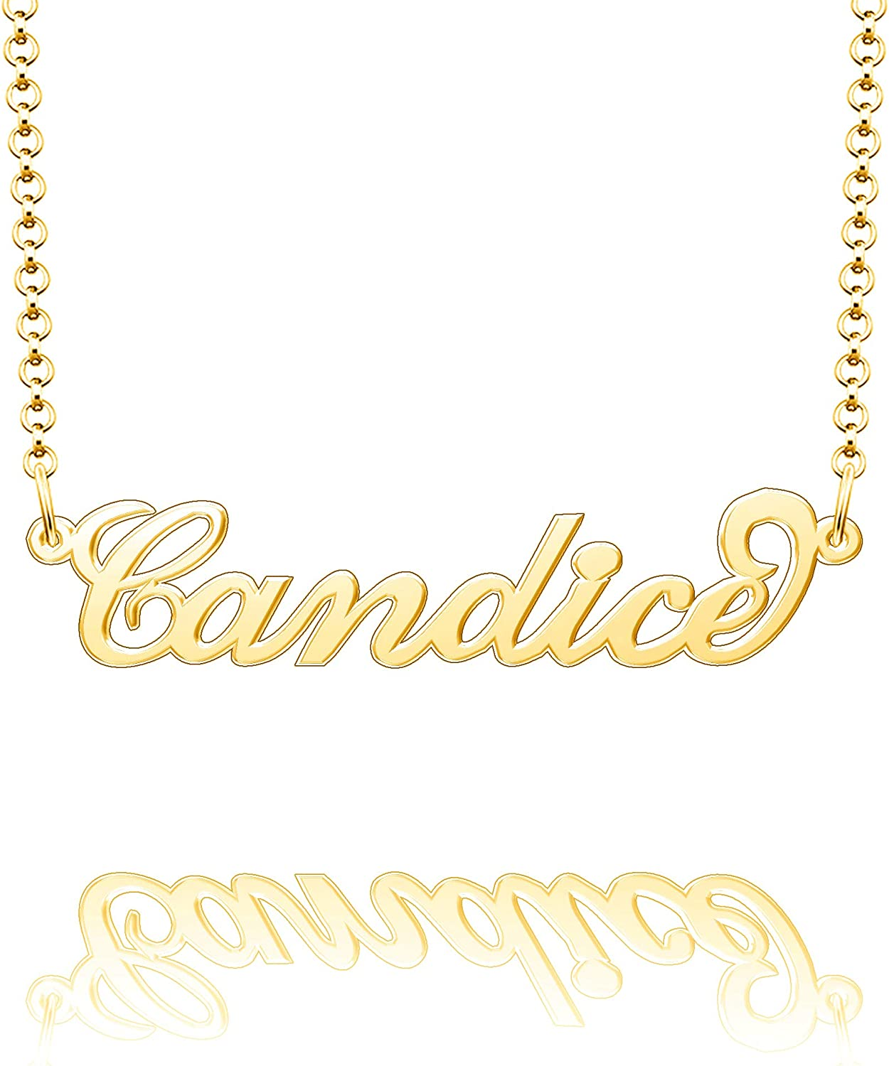 Moonlight Collections Monogram Necklace Personalized Nameplate Necklace Candice