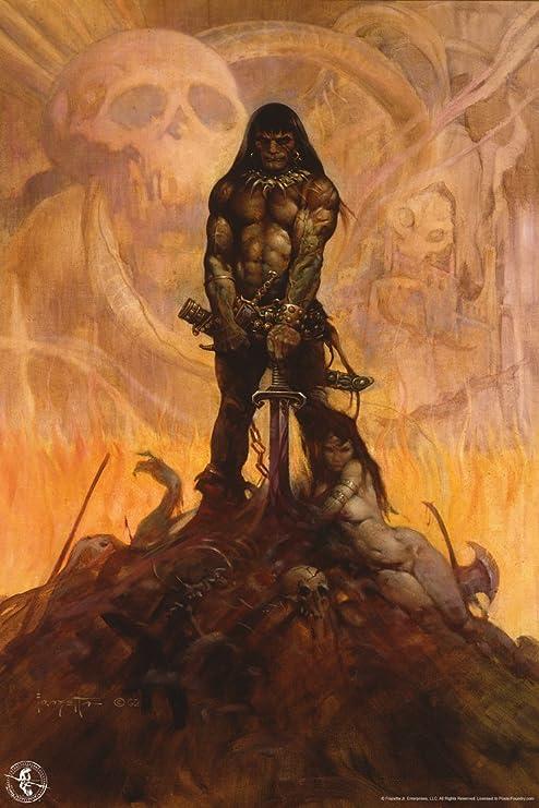 Barbarian Print by Frank Frazetta