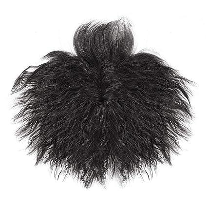 Remeehi - Peluca de repuesto, para hombre, pelo corto rizado ...