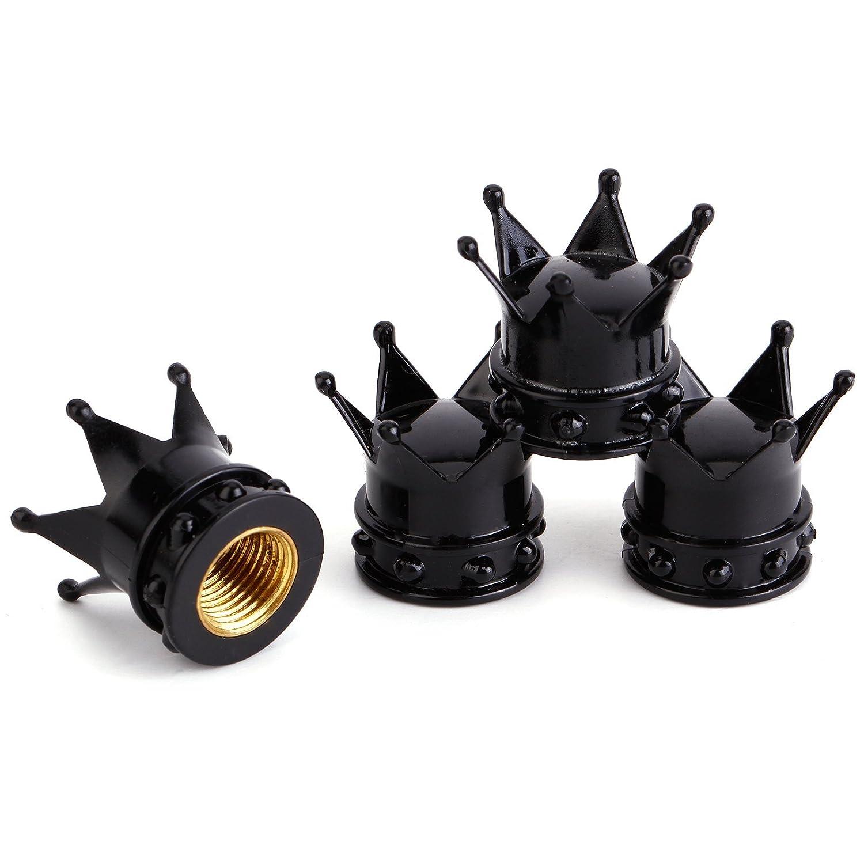 4 tapas en forma de corona para vá lvulas de aire de neumá ticos de bicicleta y motocicleta, antipolvo Surepromise