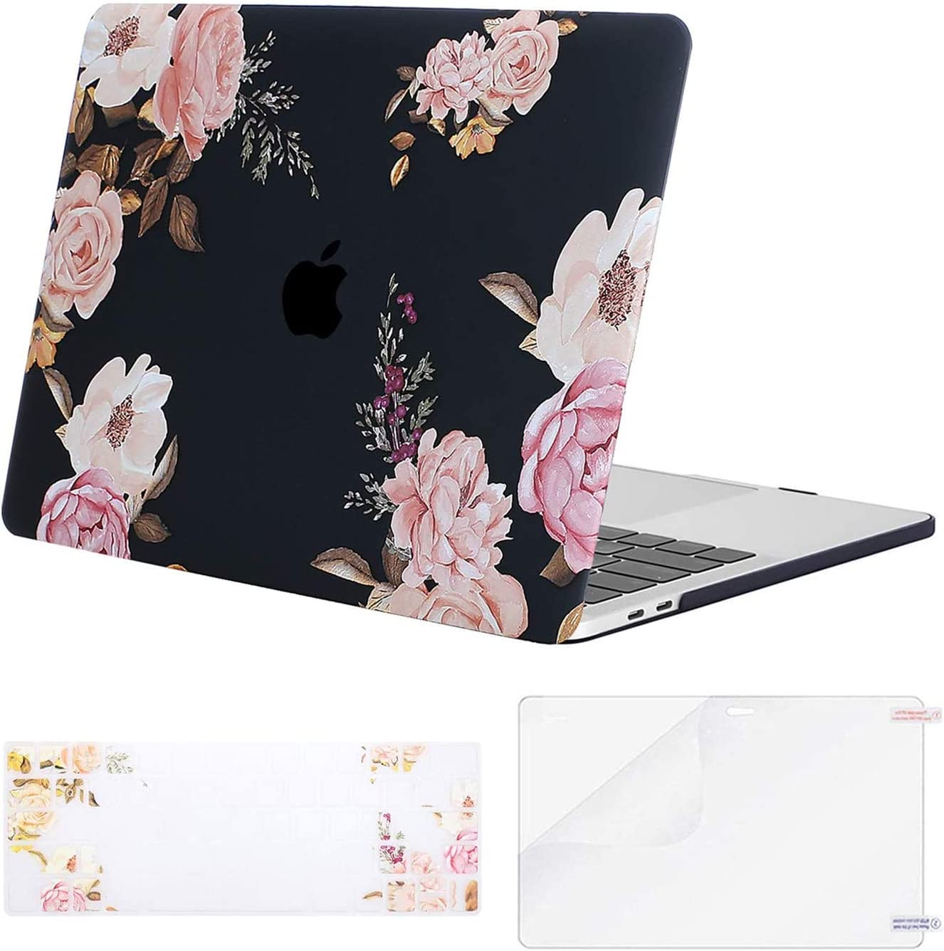 Pink Marble MOSISO MacBook Pro 13 Case 2018 2017 2016 Release A1989 A1706 A1708 w// /& w//o Touch Bar,Plastic Pattern Hard Case /& Keyboard Cover /& Screen Protector Compatible Newest Mac Pro 13 in