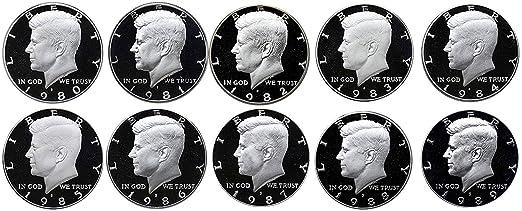 1980 1981 1982 1983 1984 1985 1986 1987 1988 1989  Proof Set 10 S Mint Proof Set