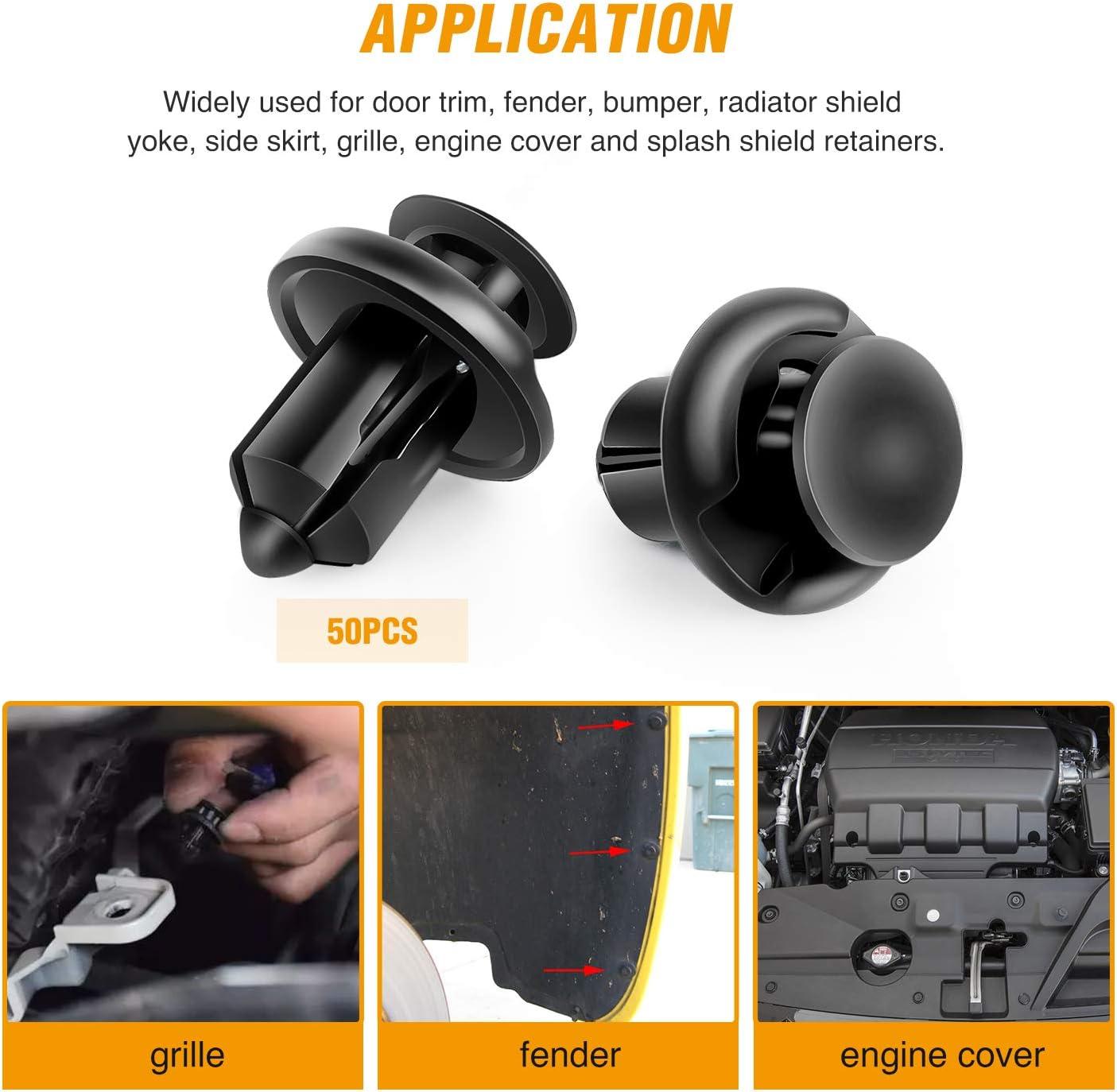 GOOACC 40PCS GRC-31 150PCS Rivet 2 Sizes Universal Auto Bumper Fender Clips Replacement-Fastener Removal Tool