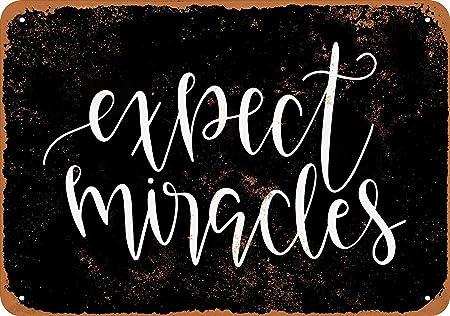 Expect Miracles Cartel De Chapa Placa Metal Vintage Arte ...