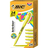 BIC BL241-YEL Brite Liner Highlighter, Chisel Tip, Yellow, 24-Count