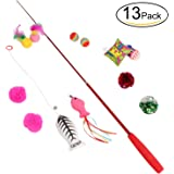 3 count of bat arounds fur ball cat toy from for Retractable cat wand