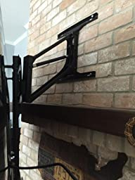 Monoprice above fireplace pull down full - Pull down tv mount over fireplace ...