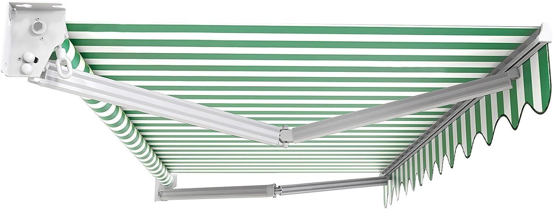 Verde Kensington DIY Toldo de Terraza tipo Carpa con Baldaqu/ín completo Accesorios y Manivela Toldo Primrose Manual 2m