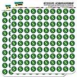 "Dollar Sign Money 1/2"" (0.5"") Planner Calendar Scrapbooking Crafting Stickers - Opaque"