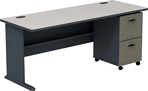 Editors' Choice: Bush Business Furniture Series A White Spectrum/Slate 72W Desk