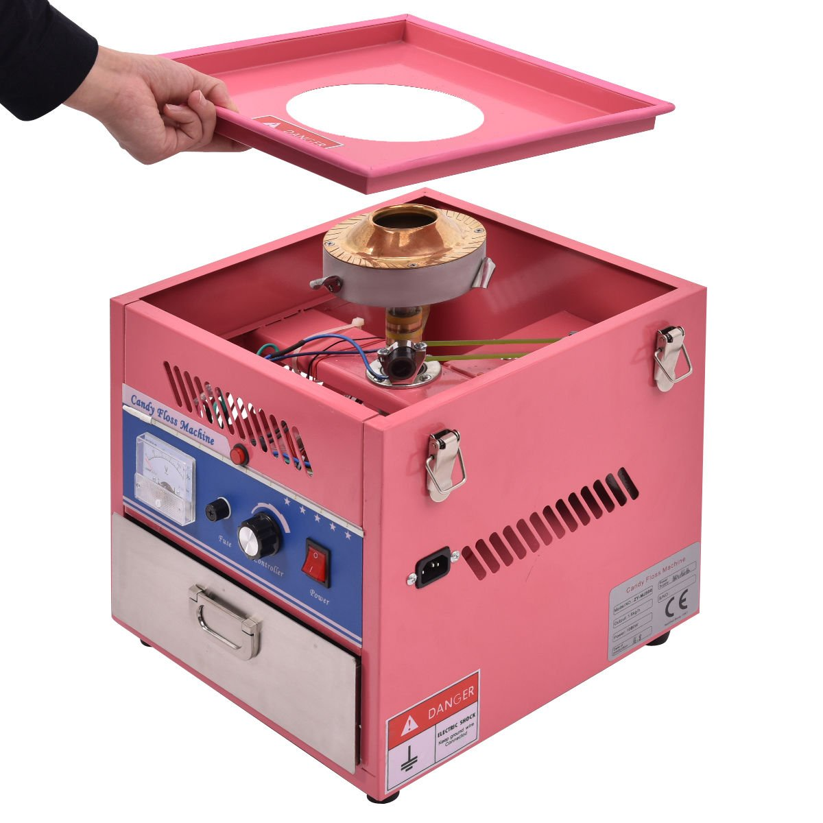 Giantex Electric Cotton Candy Machine Floss Maker Commercial Carnival Party Pink by Giantex (Image #5)