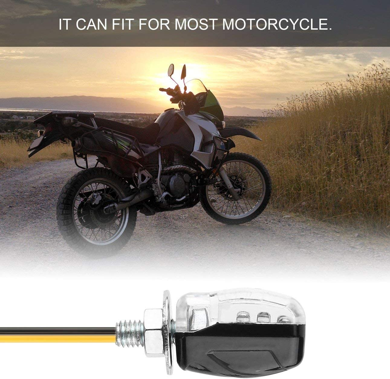 Ballylelly 4 Pcs 6 LEDs 12V Universel Mini Moto Moto Clignotants Clignotant LED Voyant Lampe Superbright