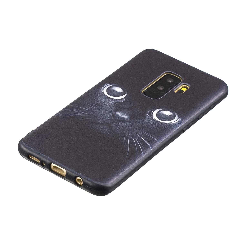Peinture Ultra Mince antid/érapant Coque en TPU Souple pour Samsung Galaxy S9/Plus Flymaff Compatible pour Galaxy S9/+ Plus Coque color/é Protection d/écran en Verre