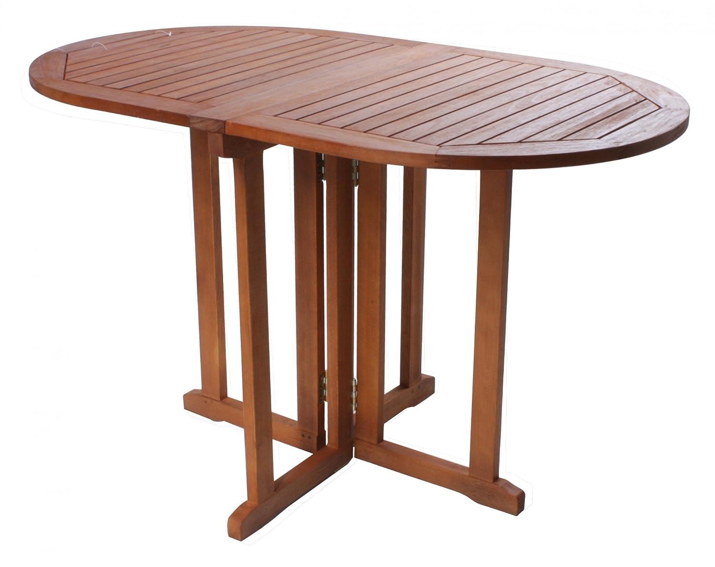 Balkontisch Klapptisch ovaler Tisch Gartentisch Holztisch BALTIMORE Eukalyptusholz FSC