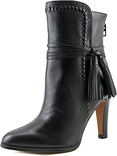 COACH Woman/'s Justine Studded Ankle Black Bootie