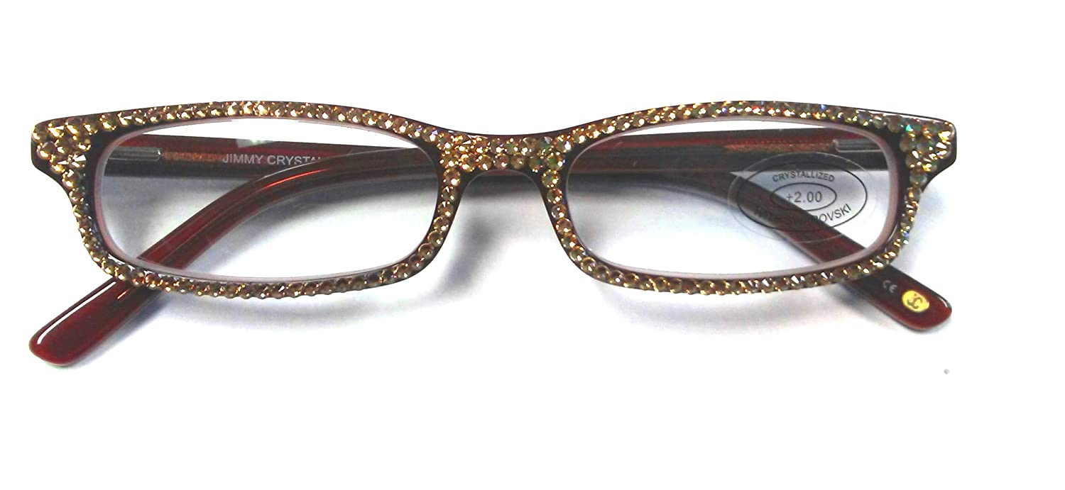 d8359add803 Amazon.com  Reading Glasses 2.00 with Gold Sparkling Swarovski Elements by Jimmy  Crystal NY  Health   Personal Care