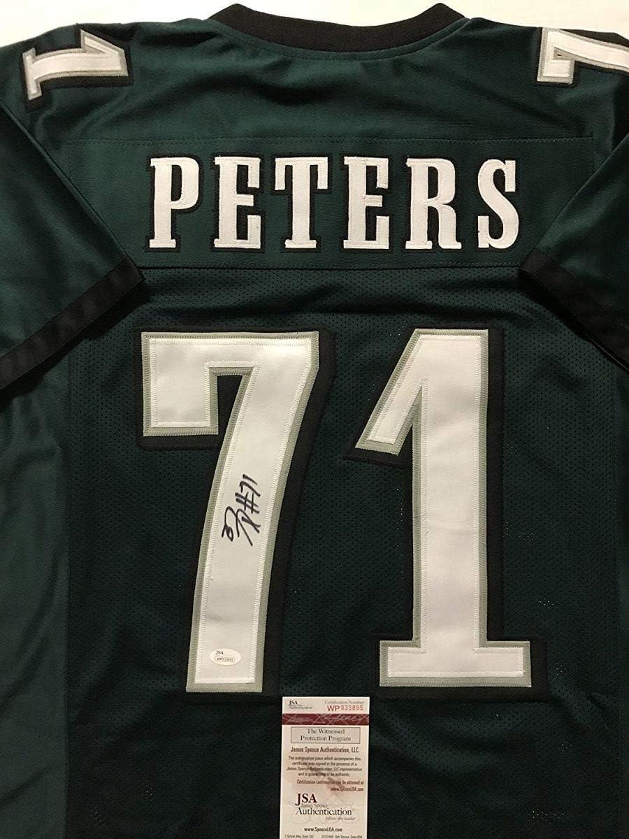 Autographed/Signed Jason Peters Philadelphia Green Football Jersey ...