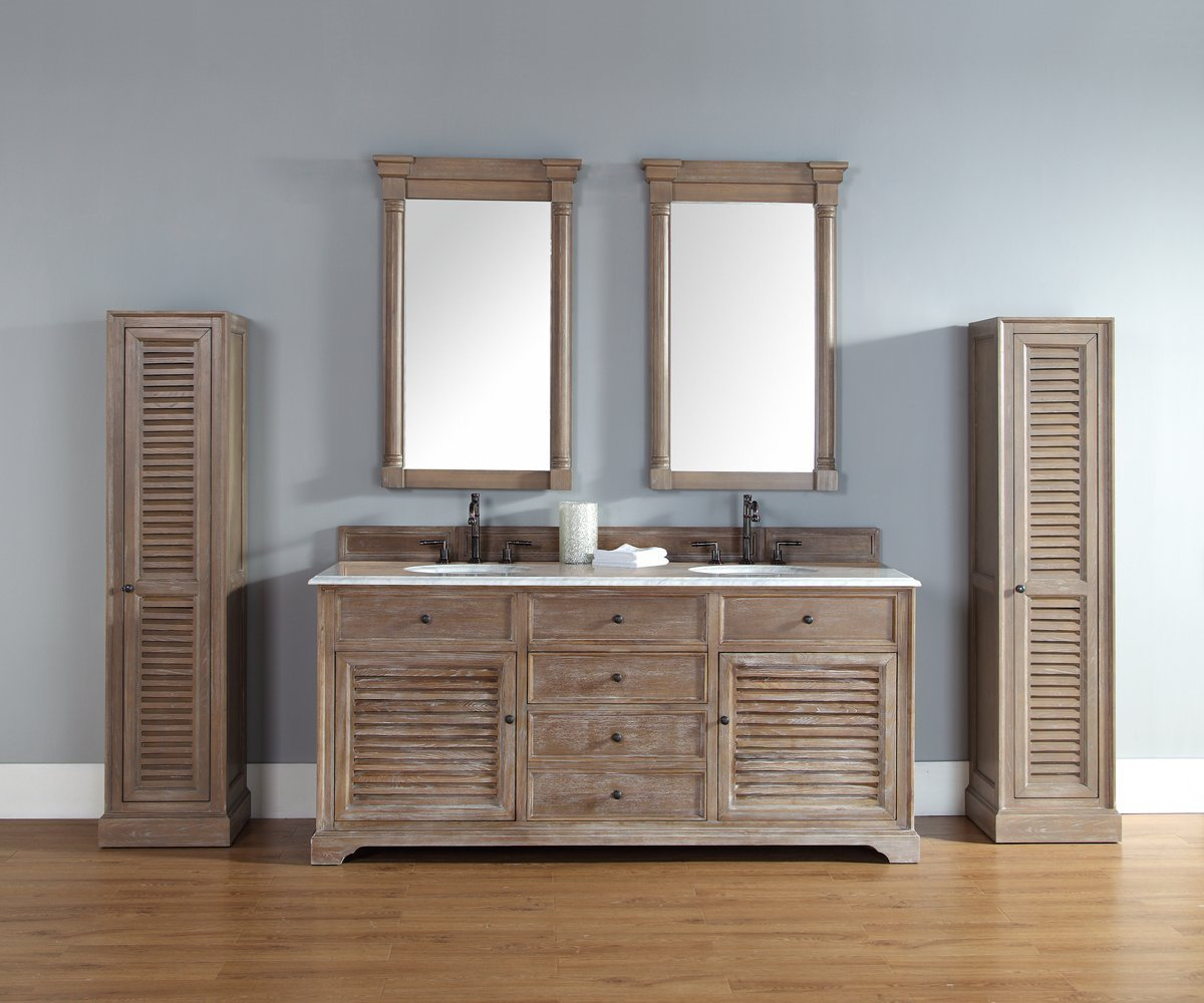 Double Vanity.72 In Double Vanity Cabinet In Driftwood Finish