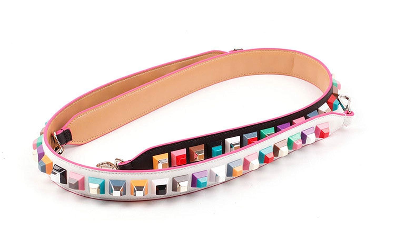 Splento Trendy getäfeltes echtes Leder Schultergurt Stud berühmte Marke Marke Marke Strap Gürtel Tasche B07Q285QW5 Knieschoner Geeignet für Farbe 79e7b2