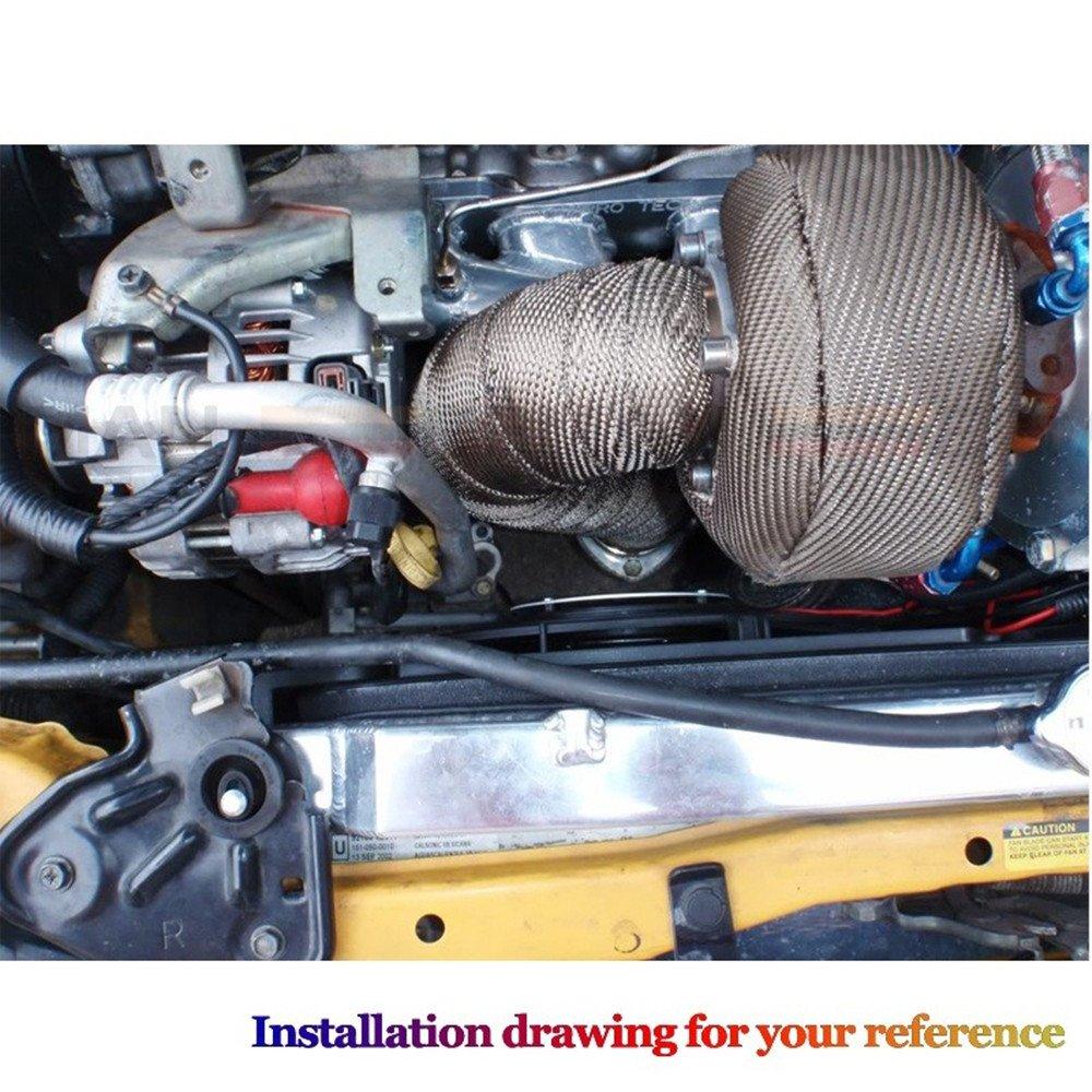 epman Racing T3 titanio Turbo manta manta de calor escudo Wrap Cover: Amazon.es: Coche y moto