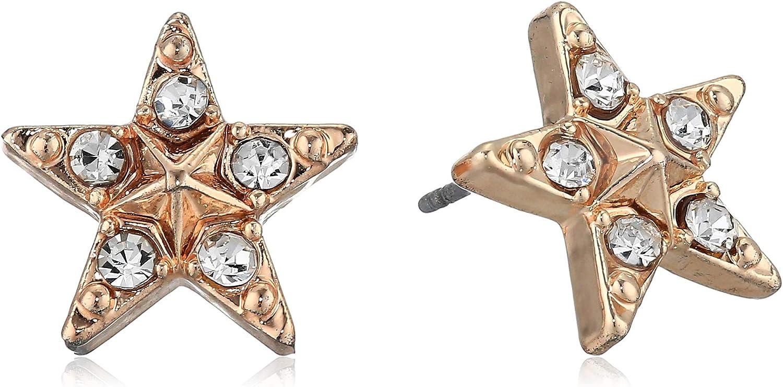 Betsey Johnson  GBG  Womens Star Stud Earrings  Crystal  One Size