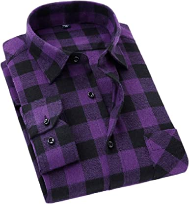 Etecredpow Mens Fashion Long Sleeve Turn Down Tops Button Front Shirts
