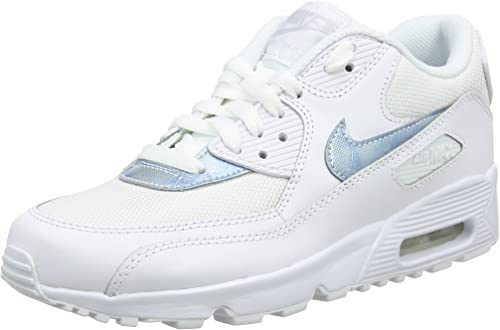 Nike Air Max 90 Mesh Gs 833418 100 Kinder, Weiß