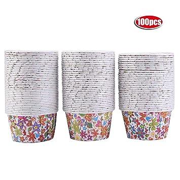 100 Moldes individuales para magdalenas, Moldes de Papel para Muffins Cupcakes, Moldes de papel para Magdalenas(#3): Amazon.es: Hogar