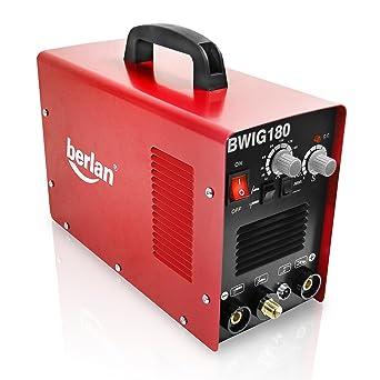 Berlan BWIG180 Inverter - Soldador de gas TIG (180 A)