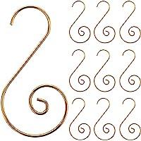 Acronde 120PCS Christmas Ornament Hooks Christmas Tree S-Hooks Ornament Hanger Metal Wire Hanging Hook for Christmas…