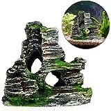 Naisicatar acquario decorazione Rock Cottage cave pietra nascosta Rock cave per acquario
