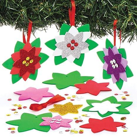 Stelle Di Natale Lavoretti Per Bambini.Baker Ross Kit Decorativi Stella Di Natale Creazioni Fai Da
