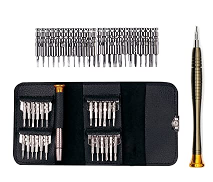 Juego de destornilladores de precisión con cabezales intercambiables 25 en 1 - Juego de herramientas que permiten abrir para su reparación teléfonos ...