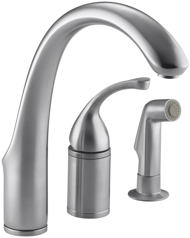 KOHLER K-10430-G Forte Single Control Remote Valve Kitchen Sink ...