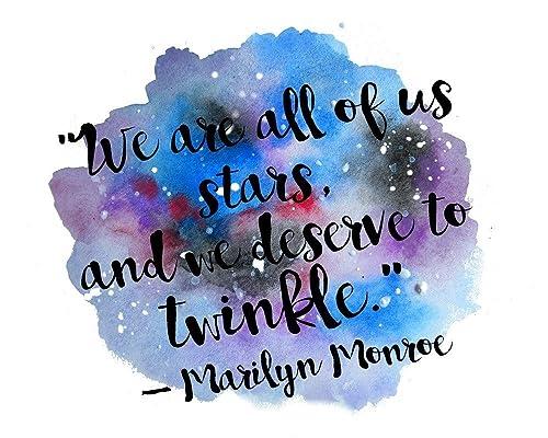 Amazon.com: Marilyn Monroe Quotes Wall Art Inspirational ...