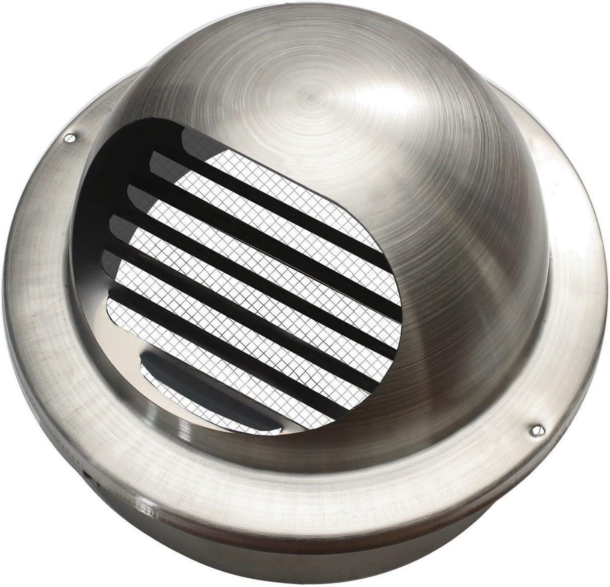 Edelstahl Ablufthaube flach Rohranschluss /Ø 100mm