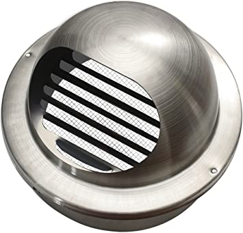 Extractor Acero inoxidable Rejilla de ventilación rejilla de aireación (Aire Campana Láminas rejilla B 100 mm: Amazon.es: Bricolaje y herramientas