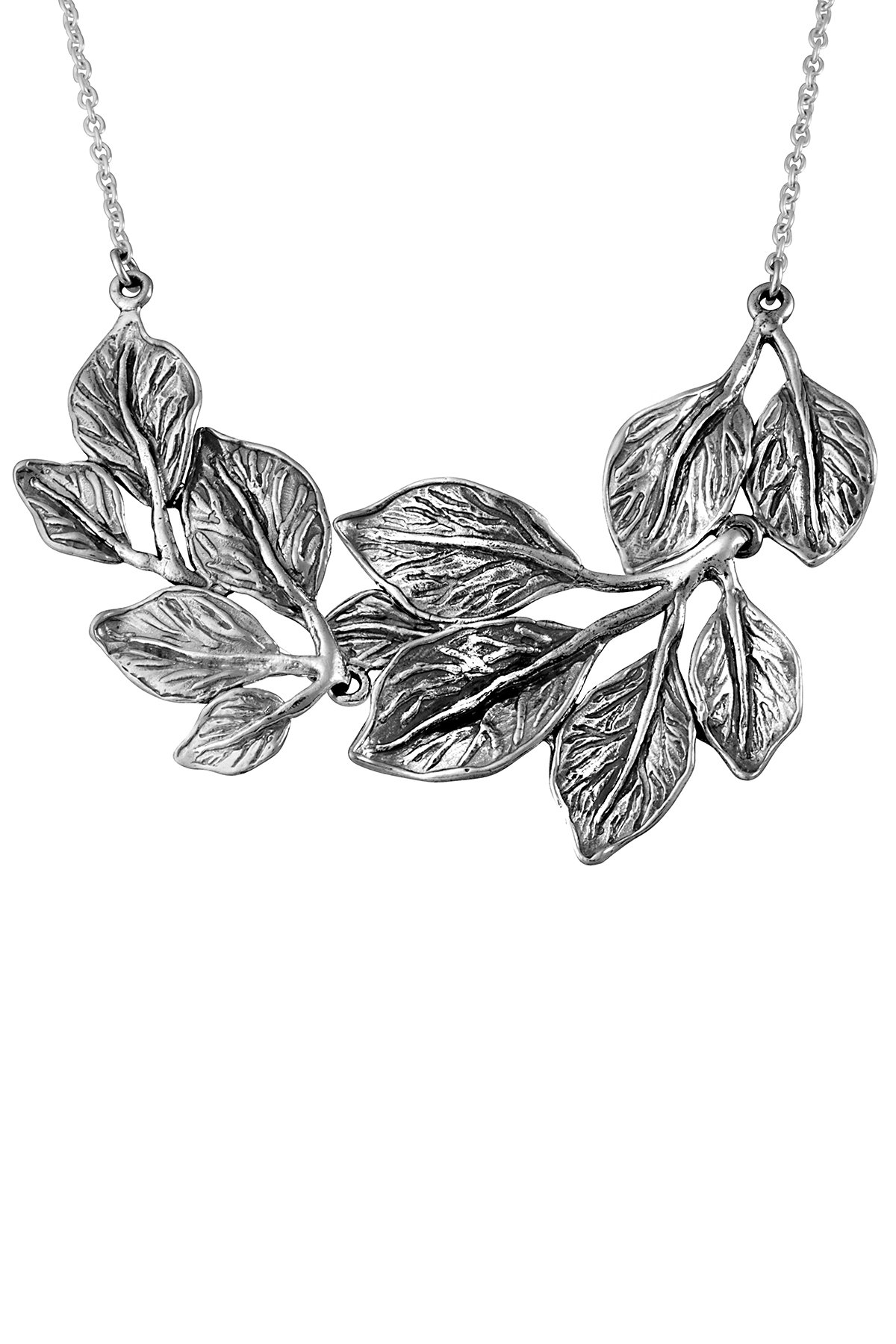 Paz Creations .925 Sterling Silver Floral Necklace, Made in Israel