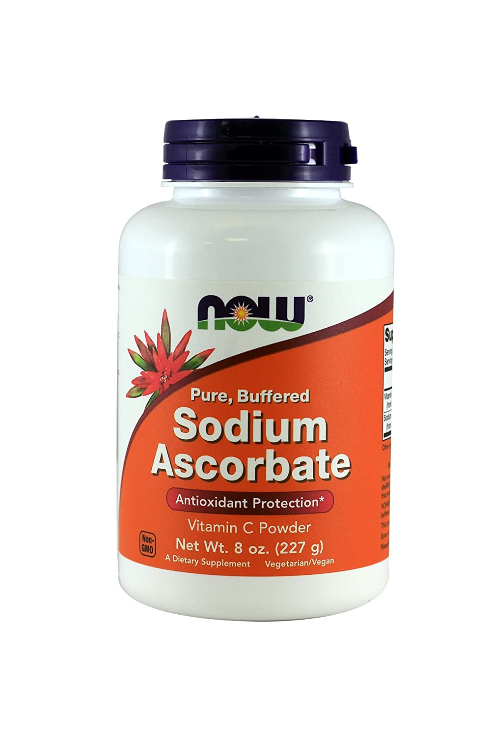 Now Sodium Ascorbate, 8-Ounce (Pack of 2)