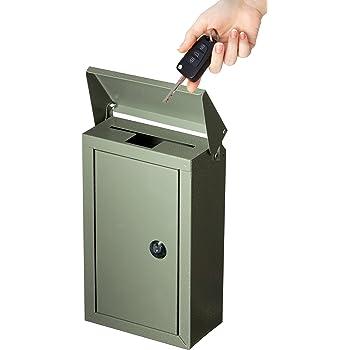 Amazon Com Outdoor Large Key Drop Box Galvanized Steel