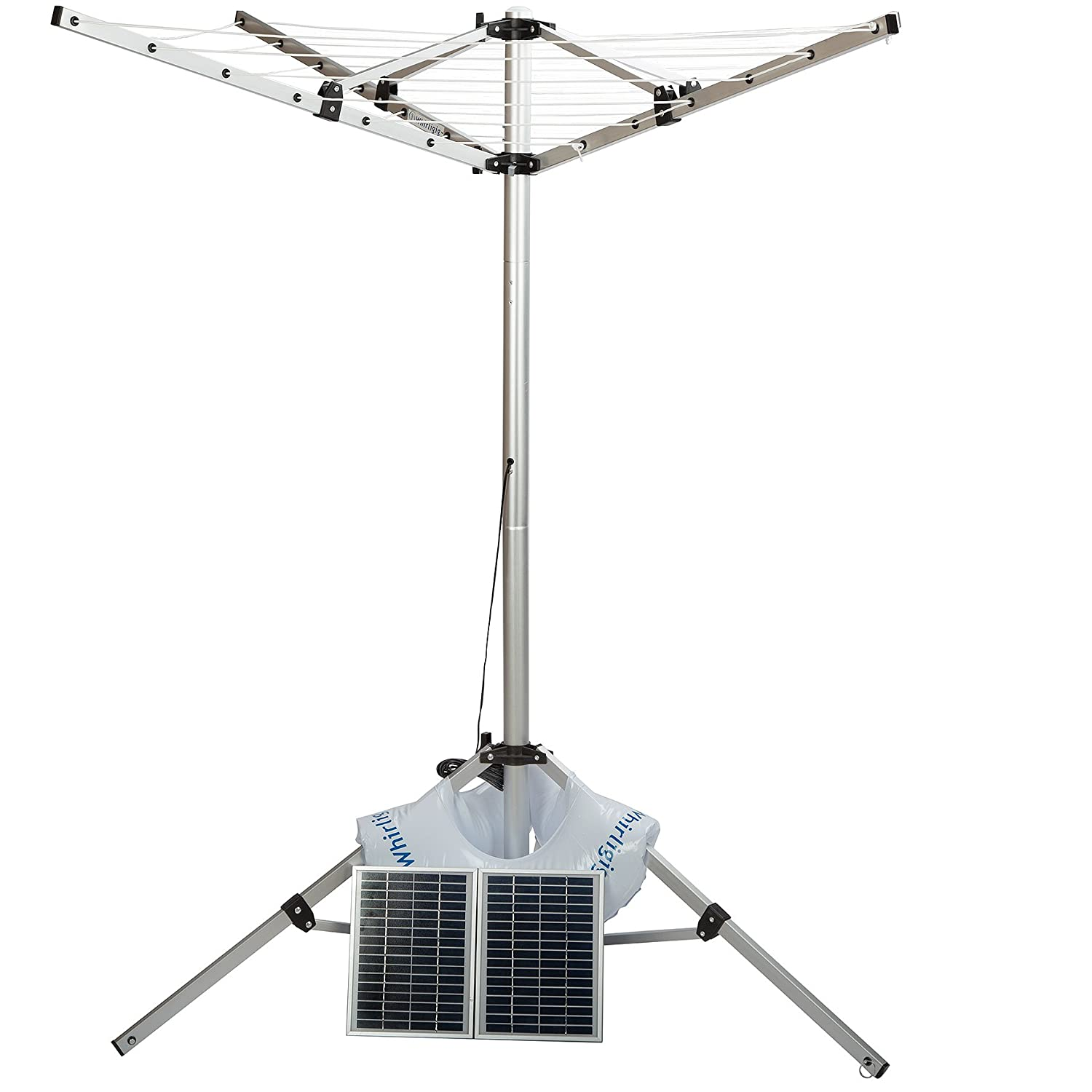 Whirligig, portable, solar powered clothes line Innovations D.I.Y. Pty Ltd