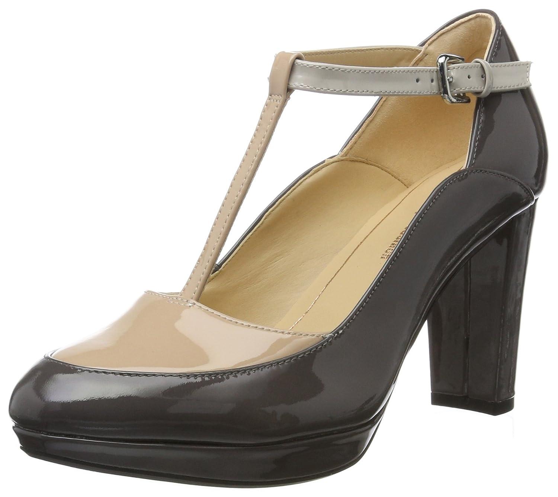 Clarks Damen Kendra Daisy T-Spangen Pumps36 EU|Grau (Dark Grey Combi)