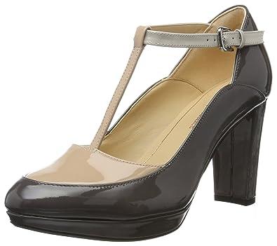 Clarks Damen Kendra Daisy T-Spangen Pumps36 EUGrau (Dark Grey Combi)