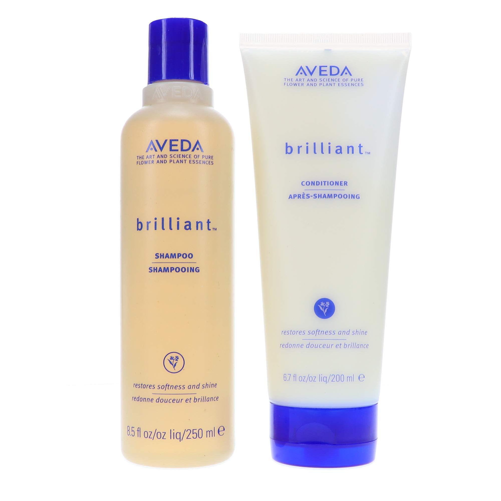 Aveda Brilliant Shampoo 8.5 oz & Conditoner 6.7 oz Duo Set