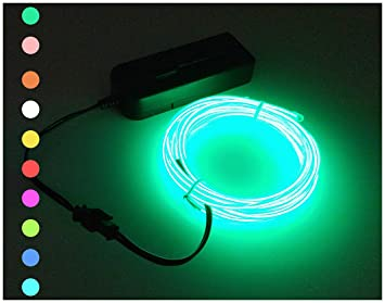 EL Wire Proboths 9.8FT Flexible Glowing Electroluminescent EL Cold Light Wire Car Party Home  sc 1 st  Amazon.com & Amazon.com : EL Wire Proboths 9.8FT Flexible Glowing ...