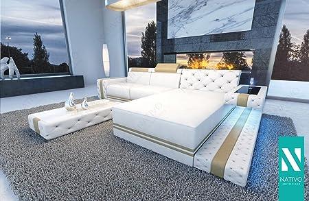 Nativo DESIGNER SOFA IMPERIAL MINI MIT LED BELEUCHTUNG Sofa L Form MINI  WOHNLANDSCHAFT